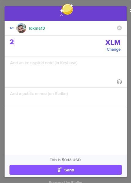 Keybase - Send Lumens