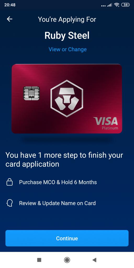 Crypto.com VISA